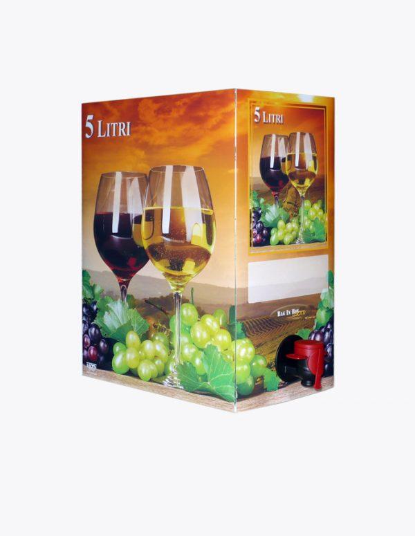 Bag in Box 5 litri calici al tramonto contenitori per vino Lisotti